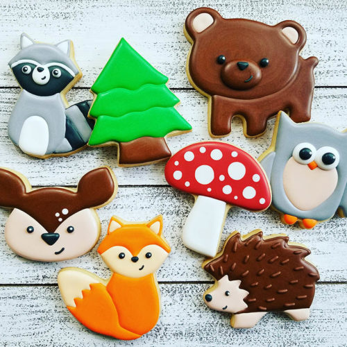 Woodland Creatures cookie decorating class
