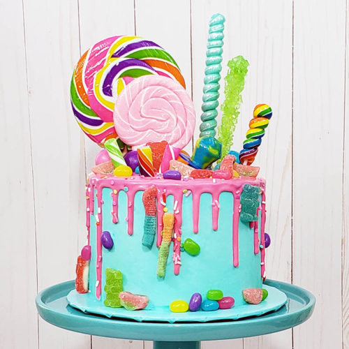 Candy decorated cake