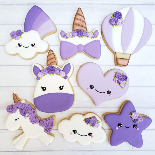 Purple Unicorn Cookie Decorating Class Irvine Orange County CA