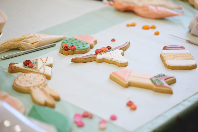 boho chic themed decorated cookies