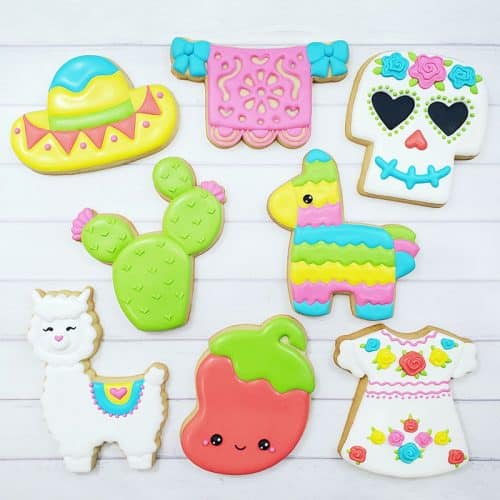 Cinco de Mayo Cookie Decorating Class Example Cookies
