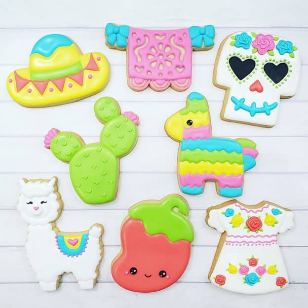 Cinco de Mayo Cookie Decorating Class Example Cookies