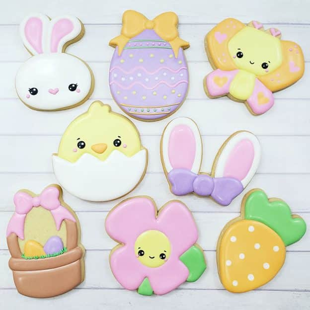Easter Cookie Decorating Class Example Cookies