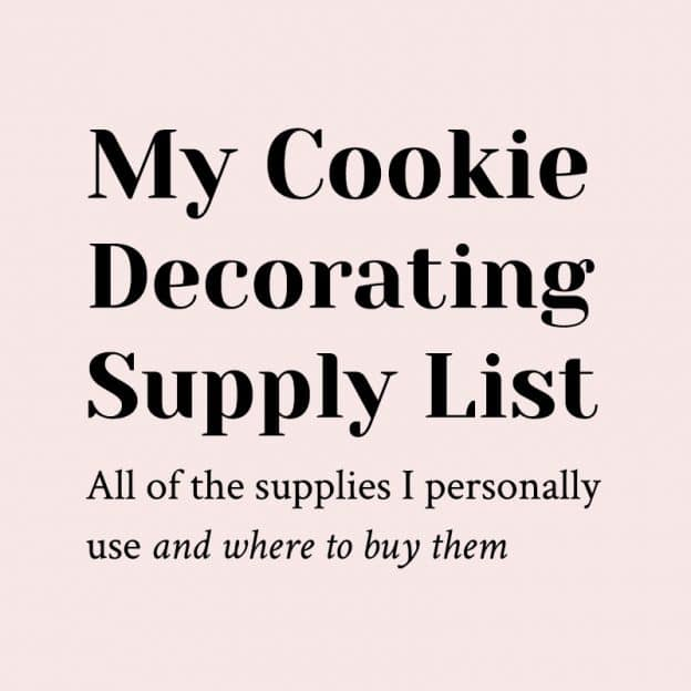 My Cookie Decorating Supply List