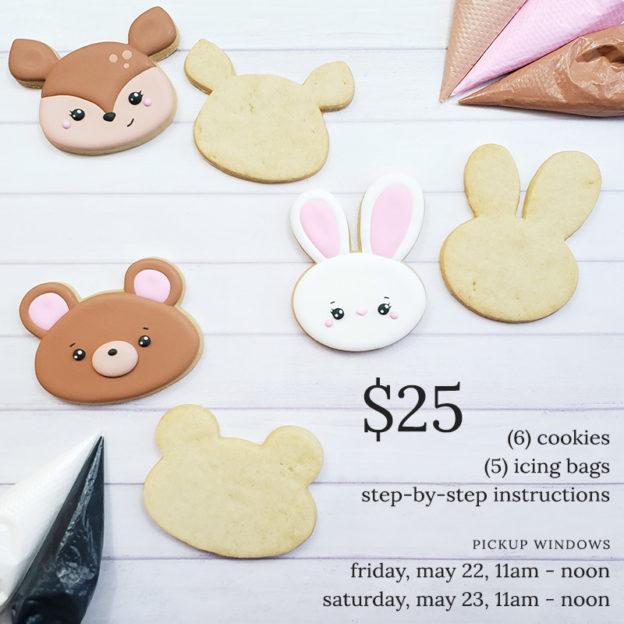 Woodland Creatures Cookie Decorating Kit