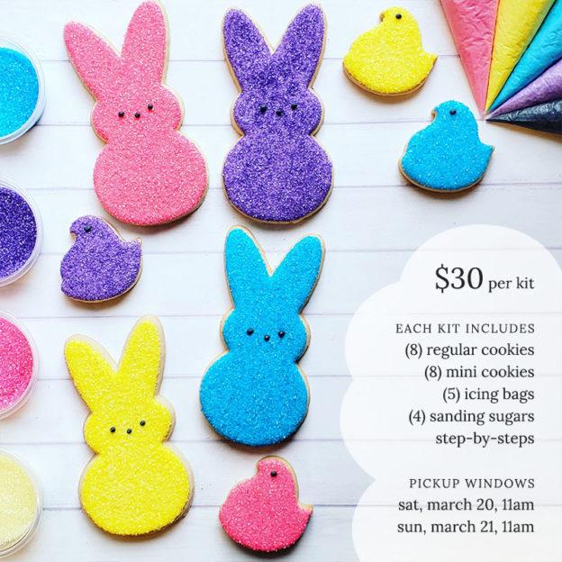 Easter peeps cookie kit
